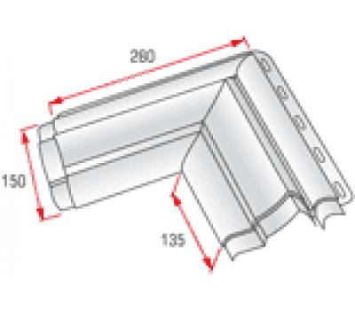 Угловой элемент наличника Модерн от производителя Альта-профиль по цене 170.00 р