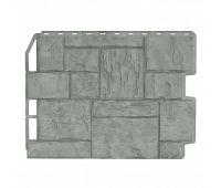 Фасадные панели (цокольный сайдинг) Туф Серый Жемчуг