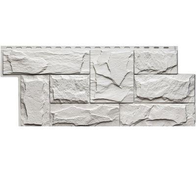 Фасадные панели (цокольный сайдинг) коллекция Гранит Леон - Белый от производителя Т-сайдинг по цене 514.00 р