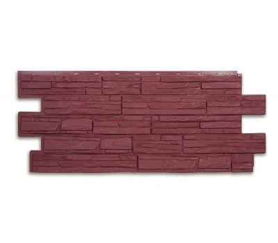Фасадные панели (цокольный сайдинг) коллекция ЭКО-1 АЛЬПИЙСКАЯ СКАЗКА - Красный от производителя Т-сайдинг по цене 414.00 р