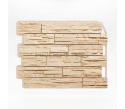 Фасадные панели (цокольный сайдинг) Скол светло-бежевый от производителя Holzplast по цене 375.00 р