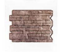 Фасадные панели (цокольный сайдинг) Парфир Brown / Коричневый