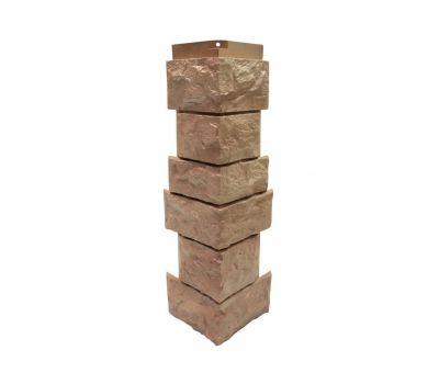Угол наружный Цокольный сайдинг «Камень северный» Терракотовый от производителя NORDSIDE по цене 399.00 р