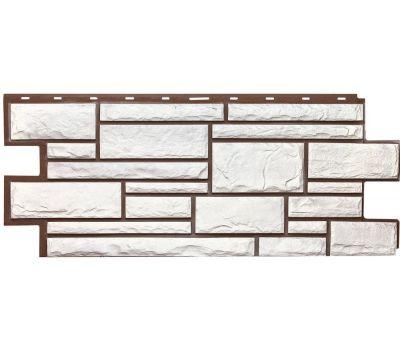 Фасадные панели (цокольный сайдинг) коллекция Дикий камень - Белый от производителя Т-сайдинг по цене 534.00 р