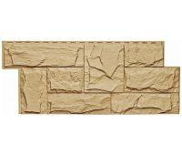 Фасадные панели (цокольный сайдинг) коллекция ЭКО-1 ГРАНИТ ЛЕОН - Бежевый