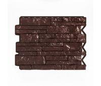 Фасадные панели (цокольный сайдинг) Парфир Dunkelbraun / Темно-коричневый