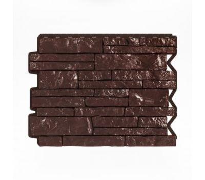Фасадные панели (цокольный сайдинг) Парфир Dunkelbraun / Темно-коричневый от производителя Holzplast по цене 390.00 р