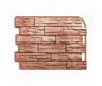 Фасадные панели (цокольный сайдинг) Скол светло-коричневый