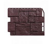 Фасадные панели (цокольный сайдинг) Туф тёмно-коричневый