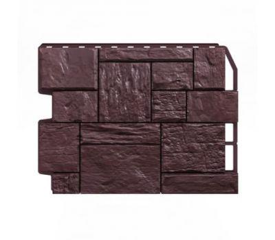 Фасадные панели (цокольный сайдинг) Туф тёмно-коричневый от производителя Holzplast по цене 390.00 р