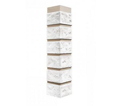 Угол наружный коллекция Кирпич Мелованный белый от производителя Fineber по цене 410.00 р