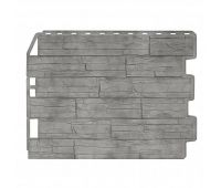 Фасадные панели (цокольный сайдинг) Скол Серый Жемчуг