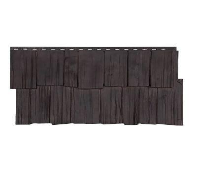 Фасадные панели (цокольный сайдинг) коллекция ЭКО 2 ЩЕПА ДУБ - Венге от производителя Т-сайдинг по цене 534.00 р