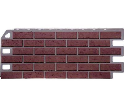Фасадные панели (цокольный сайдинг) коллекция Кирпич - Красный от производителя Fineber по цене 410.00 р