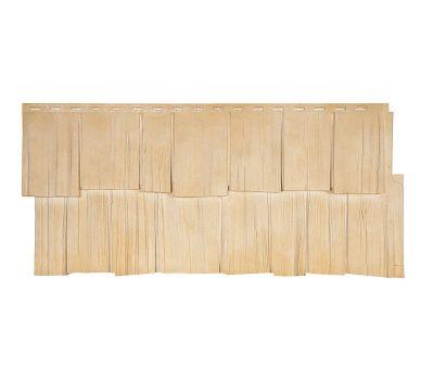 Фасадные панели (цокольный сайдинг) коллекция ЭКО 2 ЩЕПА ДУБ - Кедр от производителя Т-сайдинг по цене 379.00 р