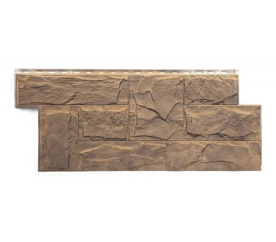 Фасадные панели (цокольный сайдинг) коллекция ЭКО 2 ГРАНИТ ЛЕОН - Алтай от производителя Т-сайдинг по цене 534.00 р