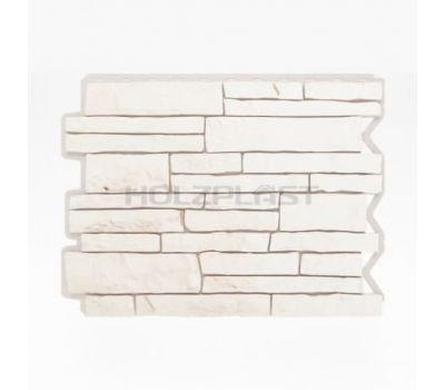 Фасадные панели (цокольный сайдинг) Парфир Weiss / Белый от производителя Holzplast по цене 375.00 р
