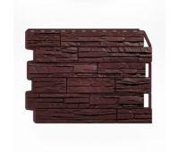 Фасадные панели (цокольный сайдинг) Скол тёмно-коричневый