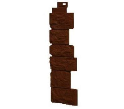 Угол наружный коллекция Дикий камень Коричневый от производителя Fineber по цене 430.00 р