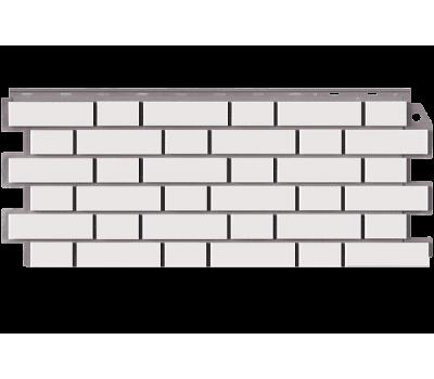 Цокольный сайдинг Кирпич Клинкерный Мелованный Белый от производителя Фасайдинг Дачный по цене 490.00 р