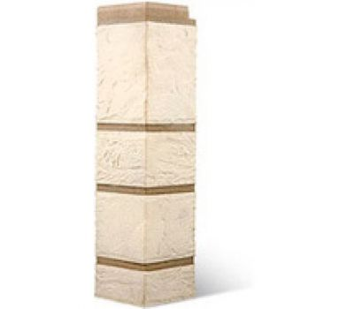 Угол наружный КОЛЛЕКЦИЯ «КАМЕНЬ» Белый от производителя Альта-профиль по цене 390.00 р