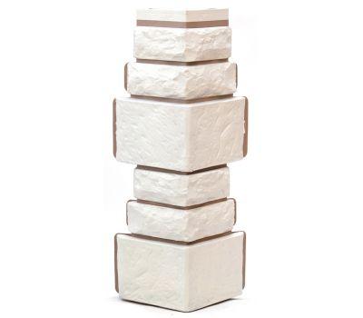Угол Дикий камень - Белый от производителя Т-сайдинг по цене 340.00 р