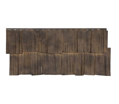 Фасадные панели (цокольный сайдинг) коллекция ЭКО 2 ЩЕПА ДУБ - Орех от производителя Т-сайдинг по цене 534.00 р