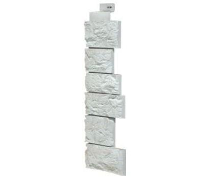 Угол наружный коллекция Дикий камень Мелованный белый от производителя Fineber по цене 416.81 р