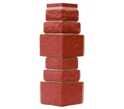 Угол Дикий камень - Красный от производителя Т-сайдинг по цене 340.00 р