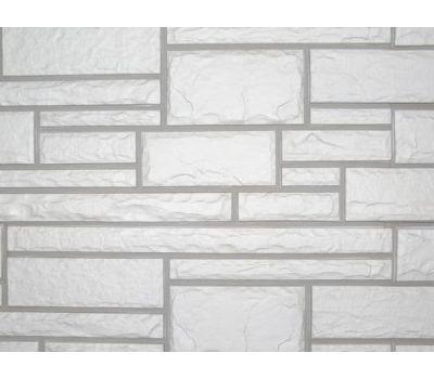 Цокольный сайдинг Hand-Cut Stone (Дворцовый Камень) GLACIER WHITE (Белый камень) от производителя NAILITE по цене 740.00 р