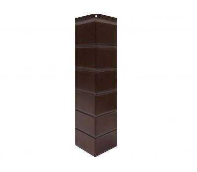 Угол наружный Цокольный сайдинг «Кирпич гладкий» Темно-коричневый от производителя NORDSIDE по цене 399.00 р