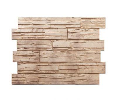 Фасадные панели (цокольный сайдинг) Скол Бежевый от производителя Holzplast по цене 425.00 р