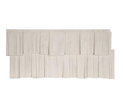 Фасадные панели (цокольный сайдинг) коллекция ЭКО-1 ЩЕПА ДУБ - Уайт от производителя Т-сайдинг по цене 349.00 р