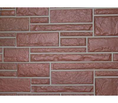 Цокольный сайдинг Hand-Cut Stone (Дворцовый Камень) MOUNTAIN RED (Красный камень) от производителя NAILITE по цене 760.00 р