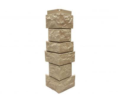 Угол наружный Цокольный сайдинг «Камень северный» Бежевый от производителя NORDSIDE по цене 399.00 р
