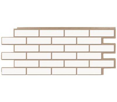 Фасадные панели (цокольный сайдинг) коллекция кирпич Модерн - Белый от производителя Т-сайдинг по цене 534.00 р