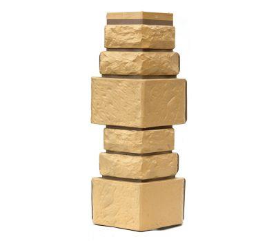 Угол Дикий камень - Желтый от производителя Т-сайдинг по цене 350.00 р