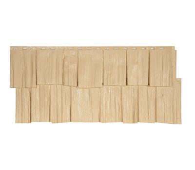 Фасадные панели (цокольный сайдинг) коллекция ЭКО-1 ЩЕПА ДУБ - Амбер от производителя Т-сайдинг по цене 414.00 р