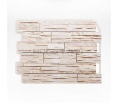 Фасадные панели (цокольный сайдинг) Скол Белый от производителя Holzplast по цене 375.00 р