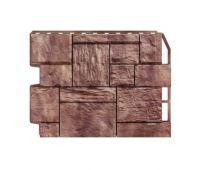 Фасадные панели (цокольный сайдинг) Туф коричневый