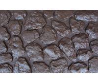 Фасадные панели Камень мелкий Коричневый