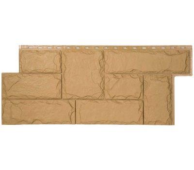 Фасадные панели (цокольный сайдинг) коллекция ЭКО-1 Гранит Марсель - Кремовый от производителя Т-сайдинг по цене 414.00 р