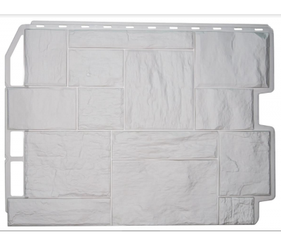 Фасадные панели (цокольный сайдинг) коллекция ТУФ - Белый от производителя Fineber по цене 420.00 р