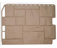 Фасадные панели (цокольный сайдинг) коллекция ТУФ - Бежевый