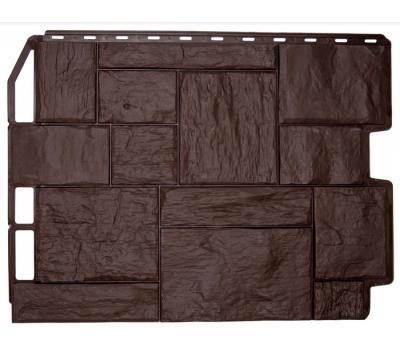 Фасадные панели (цокольный сайдинг) коллекция ТУФ - Тёмно-коричневый от производителя Fineber по цене 355.00 р