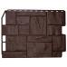Фасадные панели (цокольный сайдинг) коллекция ТУФ - Тёмно-коричневый от производителя Fineber по цене 420.00 р