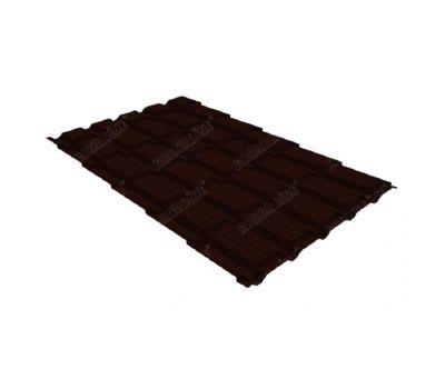Металлочерепица квадро профи 0,5 GreenCoat Pural RR 32 темно-коричневый (RAL 8019 серо-коричневый) от производителя Grand Line по цене 1 156.32 р