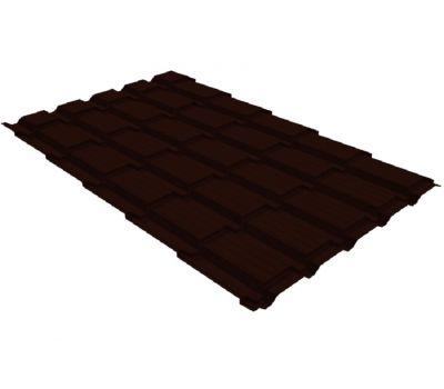 Металлочерепица квадро профи 0,5 Quarzit RR 32 темно-коричневый от производителя Grand Line по цене 1 070.96 р