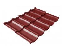 Металлочерепица модульная квинта Uno c 3D резом 0,45 PE RAL 3011 коричнево-красный