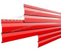 Металлический сайдинг МП СК-14х226 (ПЭ-01-3020-0.45) Красный насыщенный